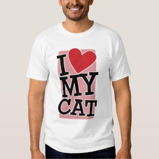 Amo mi gato playeras