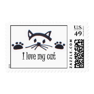 Amo mi gato sello