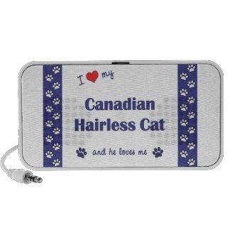 Amo mi gato sin pelo canadiense el gato masculino mini altavoz