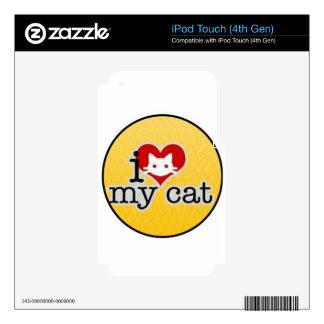 amo mi gato skins para iPod touch 4G