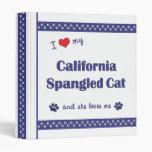 Amo mi gato Spangled California (el gato femenino)