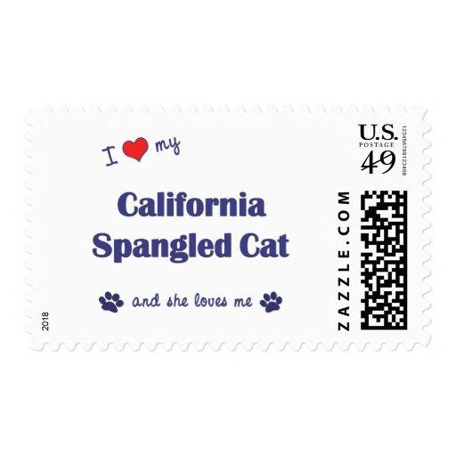 Amo mi gato Spangled California (el gato femenino) Sellos