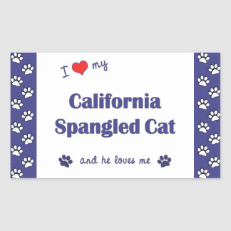 Amo mi gato Spangled California (el gato Rectangular Altavoz