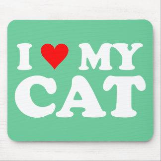 Amo mi gato tapete de ratón