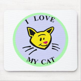 ¡Amo mi gato!!! Tapete De Raton