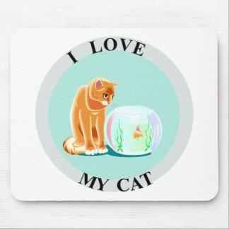 ¡Amo mi gato! Tapetes De Ratón