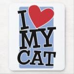 Amo mi gato tapetes de raton