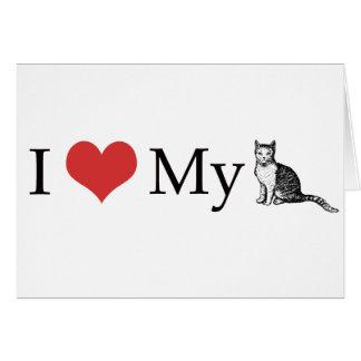 Amo mi gato tarjetas