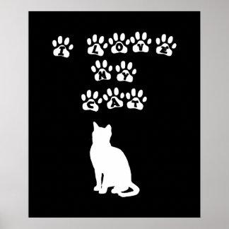 Amo mi gato--Texto blanco Posters