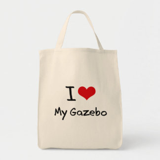Amo mi Gazebo Bolsa Tela Para La Compra