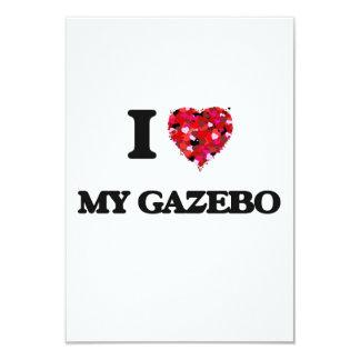 "Amo mi Gazebo Invitación 3.5"" X 5"""