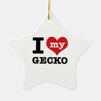 Amo mi Gecko Adorno De Navidad