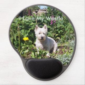 Amo mi gel Mousemat de Westie Alfombrillas Con Gel