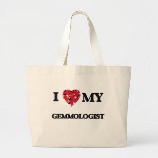 Amo mi Gemmologist Bolsa Tela Grande
