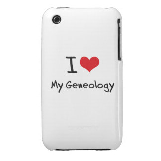 Amo mi genealogía Case-Mate iPhone 3 carcasa