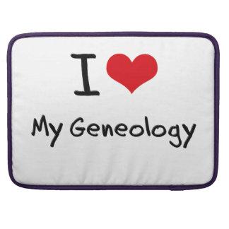 Amo mi genealogía funda para macbooks