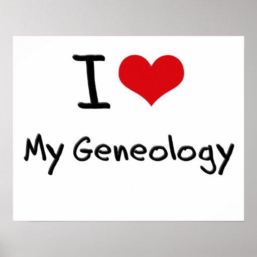 Amo mi genealogía posters