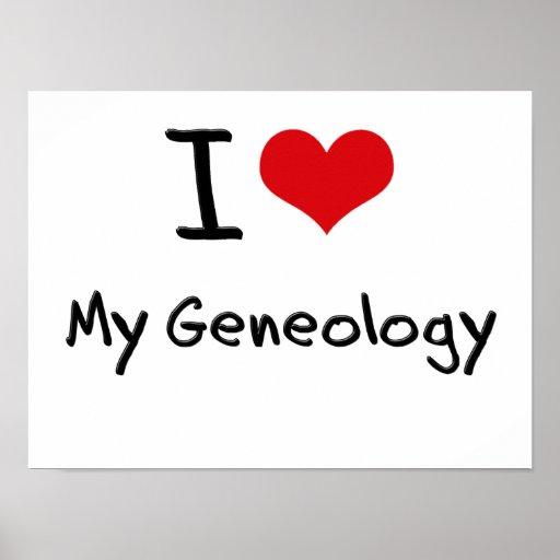 Amo mi genealogía impresiones