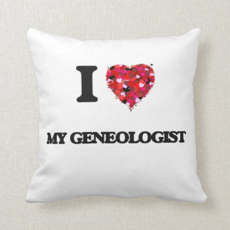 Amo mi Geneologist Almohada