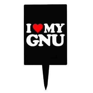 AMO MI GNU DECORACIÓN DE TARTA