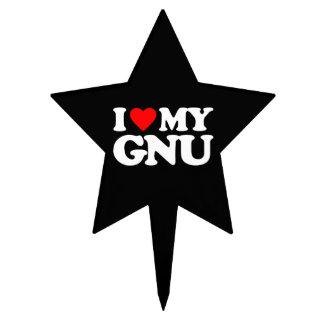AMO MI GNU DECORACIONES PARA TARTAS
