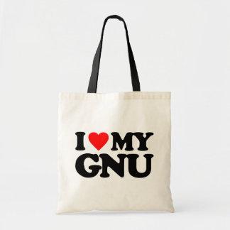 AMO MI GNU BOLSAS DE MANO
