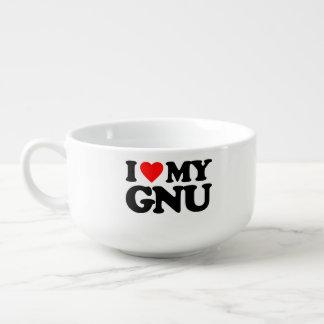 AMO MI GNU CUENCO PARA SOPA