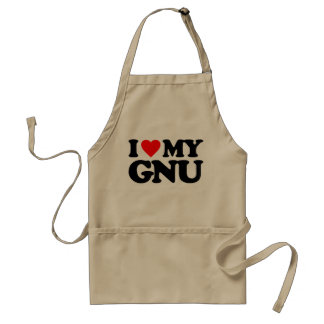 AMO MI GNU DELANTALES