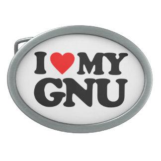 AMO MI GNU HEBILLAS DE CINTURON OVALES