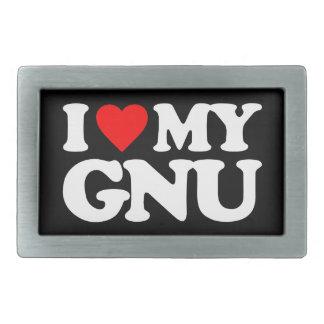 AMO MI GNU HEBILLA DE CINTURON RECTANGULAR