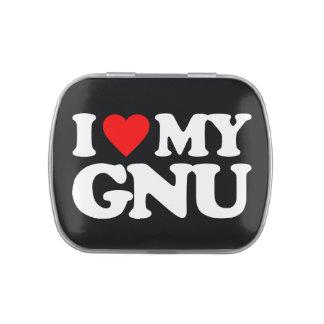 AMO MI GNU FRASCOS DE CARAMELOS