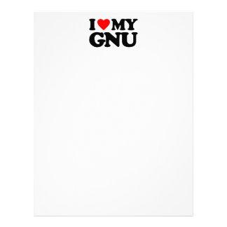 AMO MI GNU MEMBRETE PERSONALIZADO