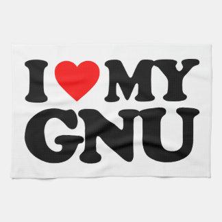 AMO MI GNU TOALLAS DE COCINA