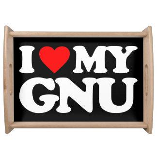 AMO MI GNU BANDEJA