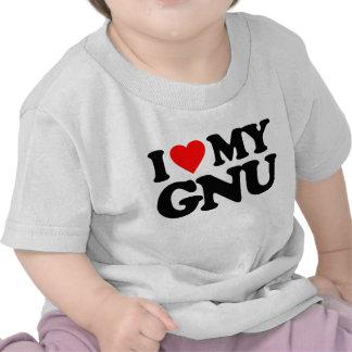 AMO MI GNU CAMISETA