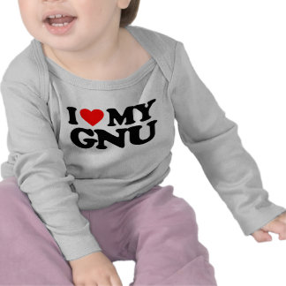 AMO MI GNU CAMISETAS