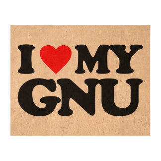 AMO MI GNU PAPEL DE CORCHO