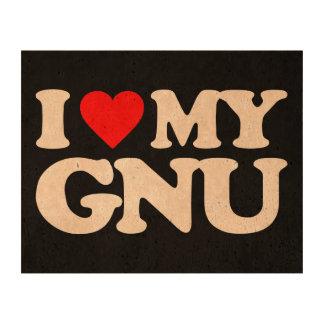 AMO MI GNU IMPRESIÓN EN CORCHO
