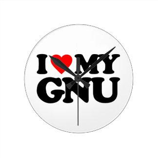 AMO MI GNU RELOJES DE PARED