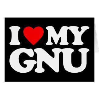 AMO MI GNU TARJETÓN