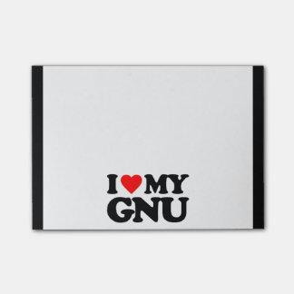 AMO MI GNU POST-IT NOTAS