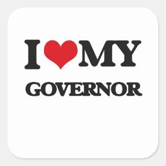 Amo mi gobernador pegatinas