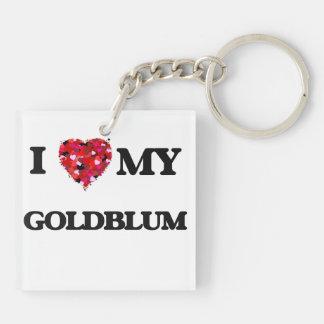 Amo MI Goldblum Llavero Cuadrado Acrílico A Doble Cara