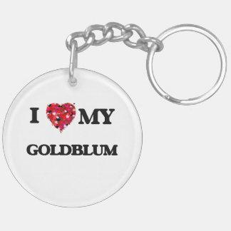 Amo MI Goldblum Llavero Redondo Acrílico A Doble Cara