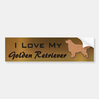 Amo mi golden retriever pegatina para auto