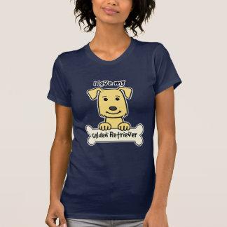 Amo mi golden retriever camisetas