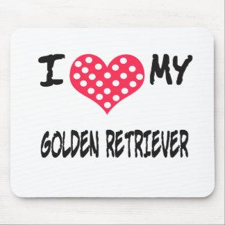 Amo mi golden retriever tapete de ratón