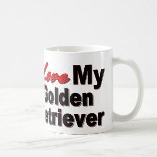 Amo mi golden retriever taza de café