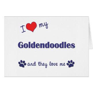 Amo mi Goldendoodles (los perros múltiples) Felicitación