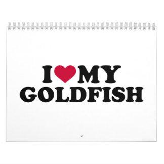 Amo mi goldfish calendarios
